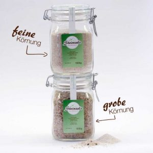 Steinsalz im Glas (1kg)